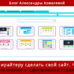 Как копирайтеру сделать свой сайт. Часть 3. Наполнение и оформление страниц